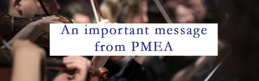 PMEA Message 1